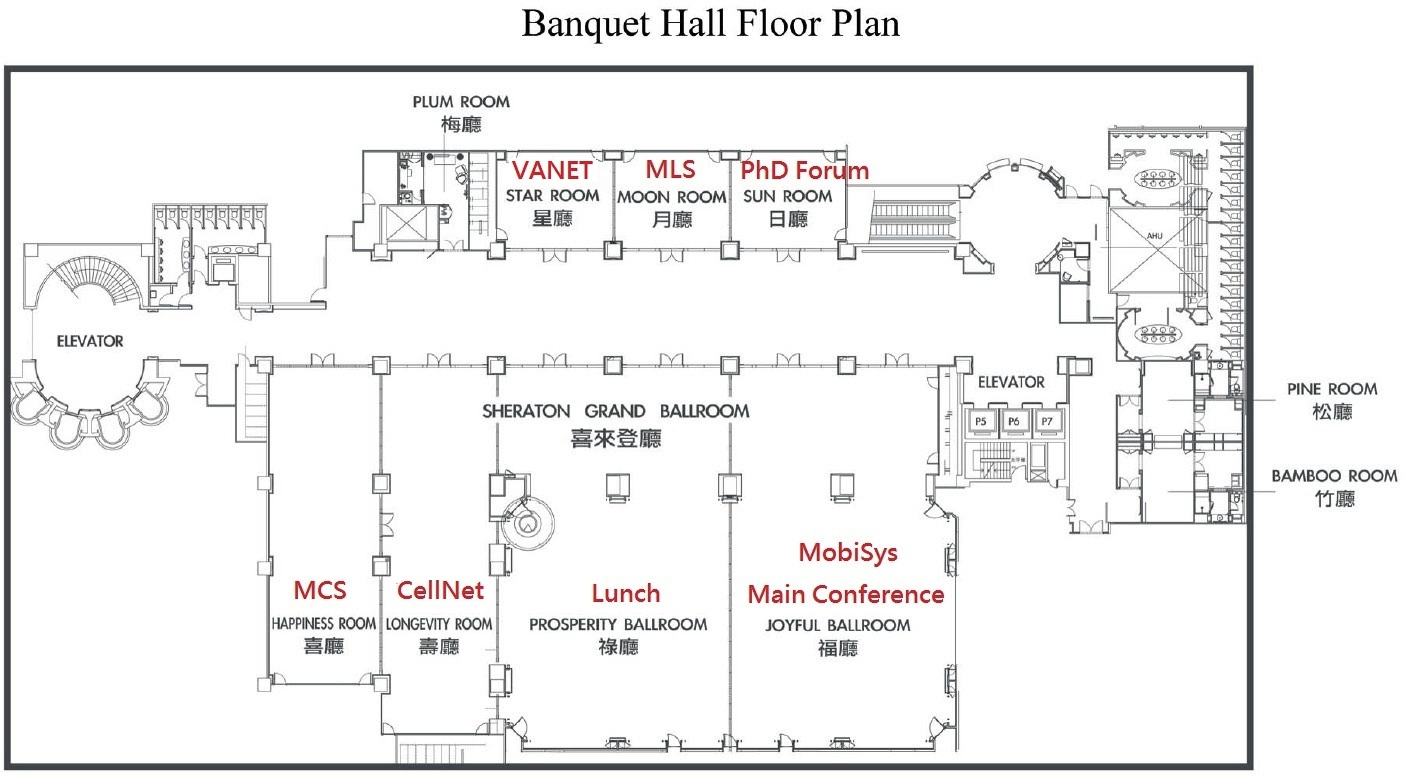 Mobisys 2013 the 11th international conference on mobile for Banquet room layout planner